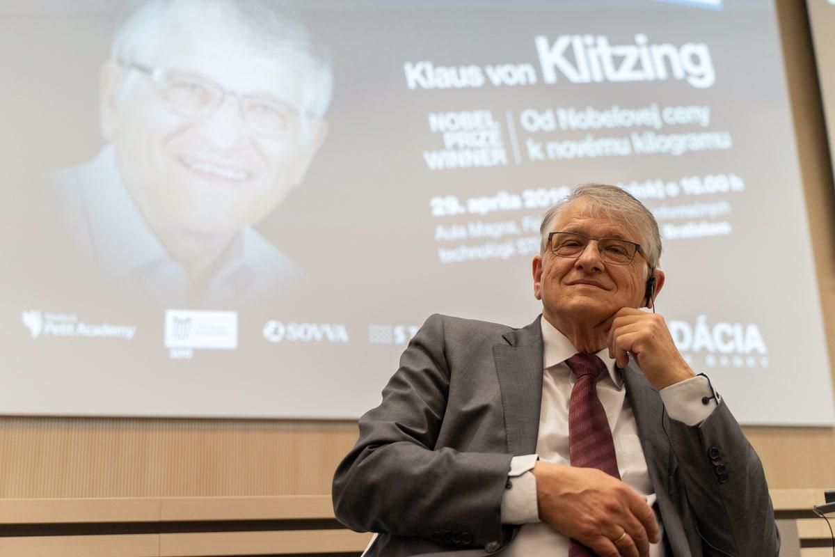 Klaus von Klitzing na STU