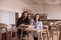 Pedagógovia predmetu Výtvarné dielo v architektúre, Mgr. Bohuš Kubinský a Mgr. art. Paulína Ebringerová, ArtD.
